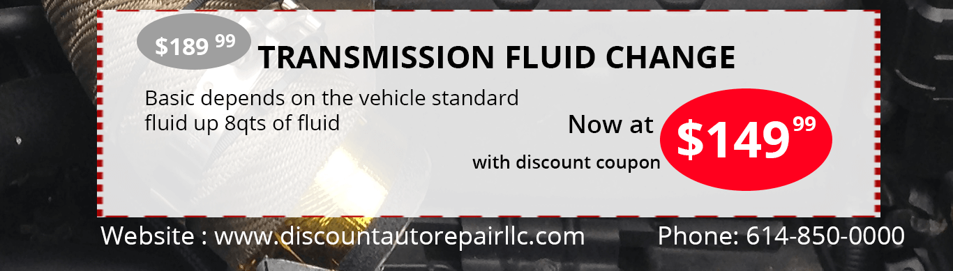 transmission fluid change discount coupons