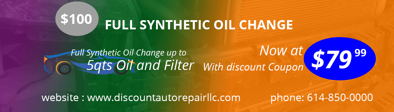 synthetic oil change discount coupons