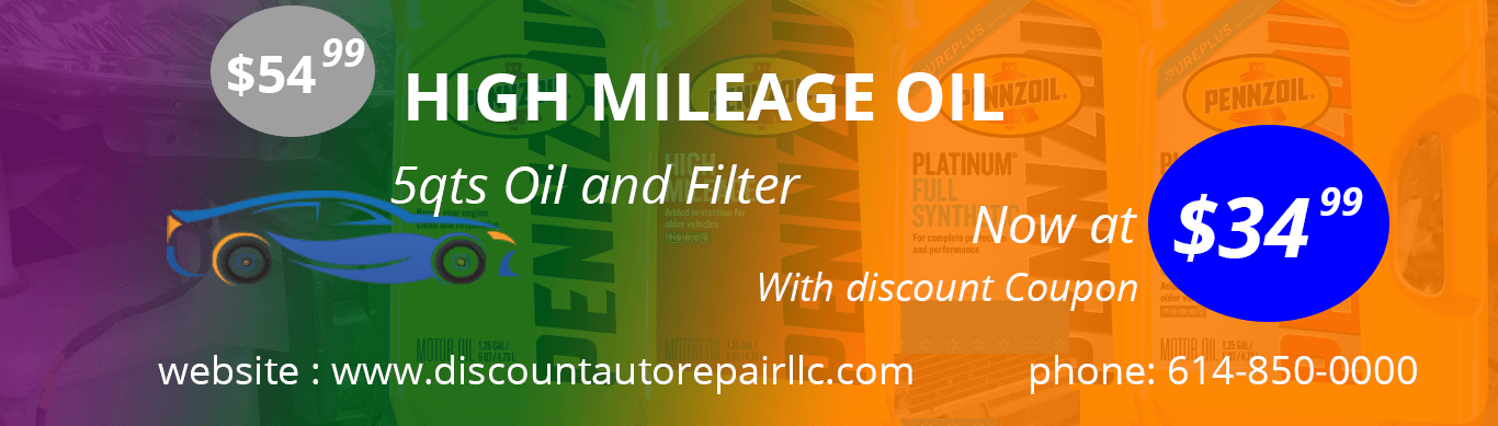 high miles oil change discount coupons